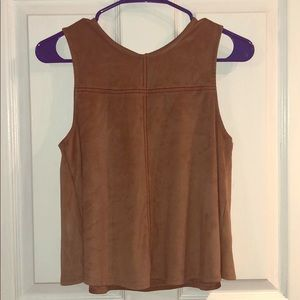Chloe and Katie cropped soft faux suede top